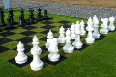 Nice backyard chess set-up. I'm amazed at how they colored the grass.