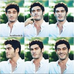 uh look damm hot in white. Cute Love Couple, Best Couple, Murat And Hayat Pics, Handsome Celebrities, Lovely Smile, Turkish Beauty, Turkish Actors, No One Loves Me, Barista