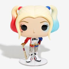 A team of very bad people who can do some good. The Suicide Squad. Harley Quinn is given a fun, and funky, stylized look as an adorable collectible vinyl figure! Heroes 97 3 Vinyl Imported By Funko Harley Quinn Halloween, Joker And Harley Quinn, Funko Figures, Vinyl Figures, Funko Pop Anime, Funko Pop Dolls, Dc Comics, Margot Robbie Harley, Funko Pop Star Wars