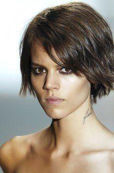 Custom Freja Beha Erichsen's Hair Style Natural Short Curly Lace Hair Wig