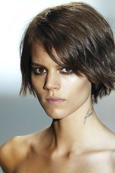 Custom Freja Beha Erichsen's Hair Style Natural Short Curly Lace Hair Wig