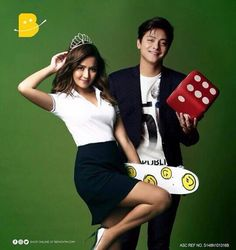 This is the handsome Daniel Padilla and the pretty Kathryn Bernardo smiling for the camera while doing a photo shoot for a commercial endorsement for Benchfor Christmas 2016 and New Year's Day 2017. Indeed, KathNiel is my favourite Kapamilya love team, and they're amazing Star Magic talents and amazing commercial models. #KathrynBernardo #TeenQueen #DanielPadilla #KathNiel #KathNielBernaDilla #BenchPH #LoveLocal #KathNielforBench