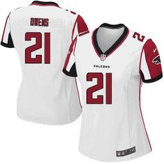 Nike NFL Atlanta Falcons #21 Chris Owens Limited Women White Road Jersey Sale