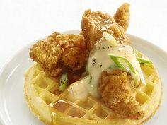 Chicken and Waffles from FoodNetwork.com