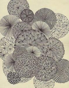 like a flower zentangle