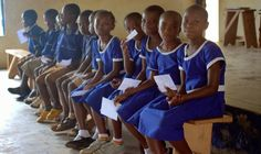 GHEI News: SSL Session I: Vision Screening. Anglican Primary students waiting to get their vision screened by GHEI staff and SSL volunteers