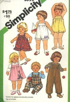 Sewing Patterns Simplicity 5333 Baby Sundress One Piece Sunsuit Summer Playwear Uncut  by SewMrsP