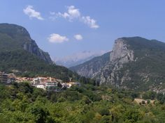 View on the mountains - Litochoro, Greece