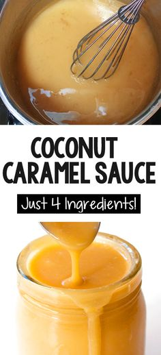 How to make caramel from a can of coconut milk coconutmilk glutenfree health homemade desserts 24 healthy ways to use a can of coconut milk Coconut Caramel Recipe, Vegan Caramel, Coconut Milk Recipes, Canned Coconut Milk, Vegan Recipes, Cooking Recipes, Coconut Desserts, Desserts Caramel, Pancakes With Coconut Milk