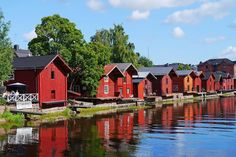 THE ICONIC RED HOUSES IN PORVOO IN FINLAND