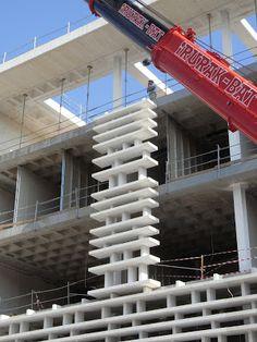 Architectonic Concrete, S.L.: Universitat de València building. Spain. Concrete Facade, Precast Concrete, Building Skin, Building Facade, Facade Design, Wall Design, House Design, Valencia, Facade Pattern