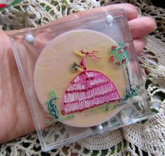 Rare Vintage Lucite Clear Powder Compact by Scentedlingerie, Etsy for sale @ Scentedlingerie, $32.00