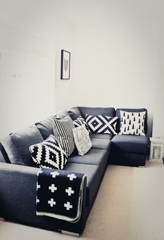 Black and white cushions Pia wallen blanket love Fine little day cushion love