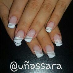 Nail Tip Designs, Elegant Nail Designs, French Nail Designs, Acrylic Nail Designs, French Manicure Nails, Shellac Nails, French Nails, Toe Nails, Fabulous Nails