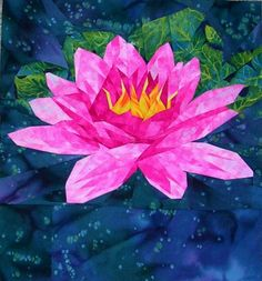 silver linings quilting pattern water lily