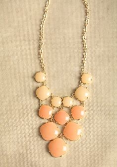 Hailey Necklace In Peach | Modern Vintage Necklaces | Modern Vintage Jewelry