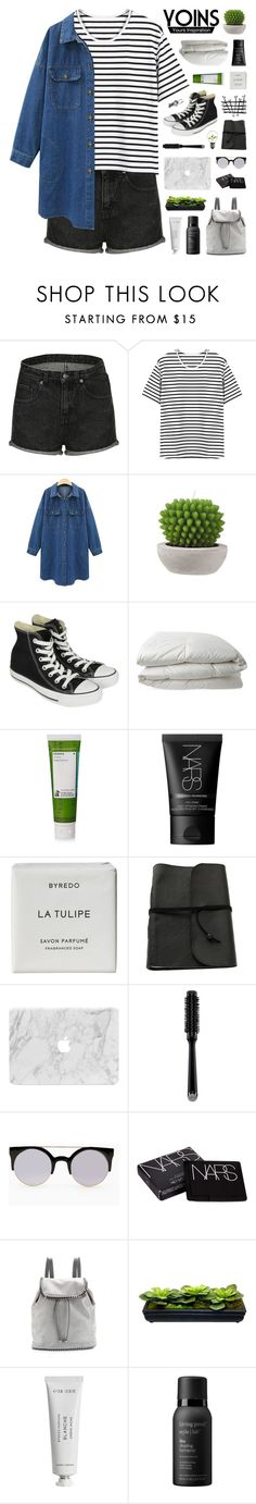 """Yoins #10"" by hhuricane ❤ liked on Polyvore featuring Converse, Nimbus, Korres, NARS Cosmetics, Byredo, GHD, STELLA McCARTNEY, Living Proof, women's clothing and women"