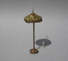 Kummerows Dollhouse Tiffany Floor Lamp Miniature by UncommonEye