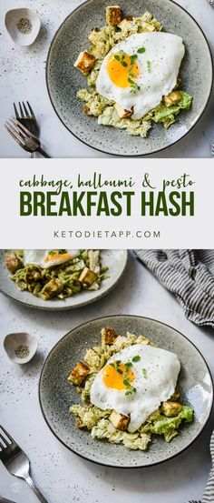 This low-carb halloumi veggie skillet is easy to make and packed with flavor. An easy breakfast meal or a quick keto dinner option ready in just 15 minutes! Breakfast Hash, Low Carb Breakfast, Breakfast Recipes, Sugar Free Eating, Vegetarian Recipes, Healthy Recipes, Keto Recipes, Fried Halloumi
