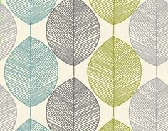 Feature wallpaper by Arthouse Opera Retro Leaf Teal/Green 408207   eBay