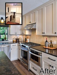 Before and Afters - Kitchen Remodel for a young bachelor's first home