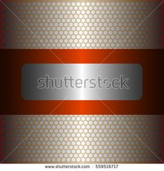 Shiny silver metal background.shiny orange metal.gold plate with hexagon holes style design