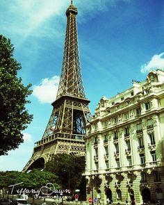 Sunny Day in Paris  La Tour Eiffel  Paris by TiffanyDawnPhoto,