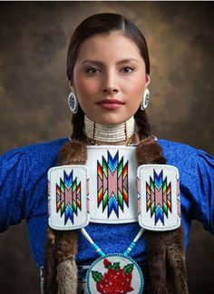 """American Beauty"" - by Craig Lamere. Not only is the dancer beautiful, but that bead work is amazing! Native American Beauty, Native American History, American Indians, American Symbols, Cree Indians, Native American Cherokee, Native American Beadwork, Native Indian, Native Art"