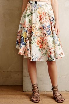 Love a midi floral skirt for spring paired with sandals