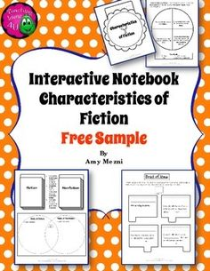 Characteristics of Fiction & Point of View Interactive Notebook FREEBIE!