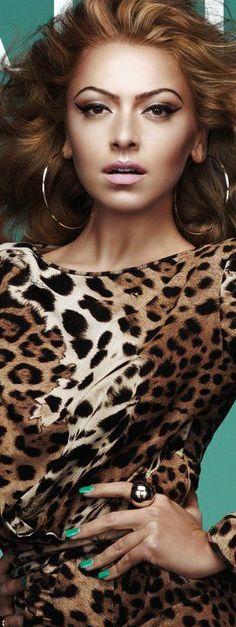 Hadise Açikgöz Animal Print Outfits, Animal Print Fashion, Fashion Prints, Animal Prints, Leopard Fashion, Turkish Beauty, Leopard Animal, Beautiful Celebrities, Celebrity Photos