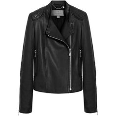 Biker Jacket Black Grainy Calf ($2,320) ❤ liked on Polyvore featuring outerwear, jackets, leather jacket, coats, coats & jackets, leather rider jacket, real leather jacket, quilted motorcycle jacket, quilted leather jacket and rider jacket