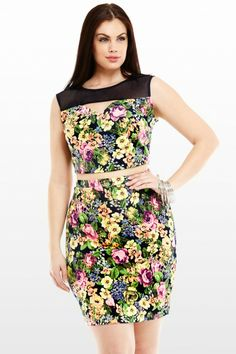 Sophia Floral Fitted Skirt