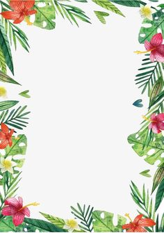 Hawaii flowers and plants PNG and Clipart Hawaii Flowers, Tropical Flowers, Hawaiian Party Decorations, Invitation Background, Borders For Paper, Flamingo Party, Tropical Party, Floral Border, Grafik Design