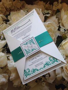 Jade sparkly invite #www.louisekellydesigns.com