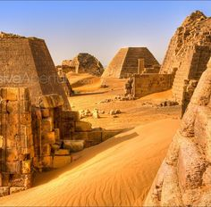 Ancient pyramids, Sudan