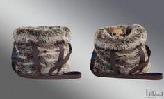Wa Wa Designer Dog Carrier Pouch in Faux Fur