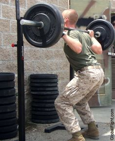 marines weight training working out