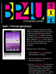 Check out this Mad Mimi newsletter from BP4U about an Ipad + Preveal Giveaway
