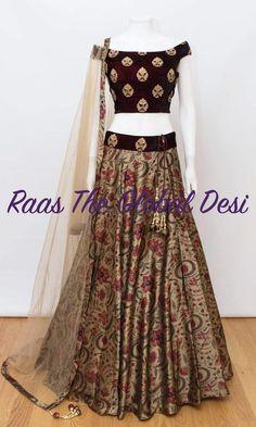 choli-Raas The Global The Global Desi Lehnga Dress, Lehenga Gown, Indian Lehenga, Bridal Lehenga, Lehenga Blouse, Half Saree Designs, Lehenga Designs, Saree Blouse Designs, Indian Wedding Outfits