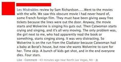 Les Mis Review, Superhero Like - Les Mis,The Wolverine Meme,catwoman