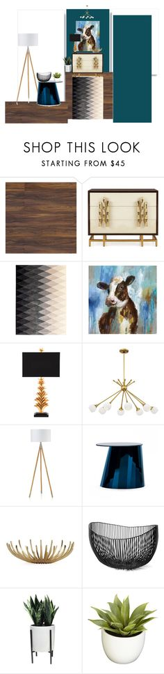 """""""Cow-rner"""" by moccanela on Polyvore featuring interior, interiors, interior design, home, home decor, interior decorating, Ambella, GRIT&ground, Threshold and Nearly Natural"""