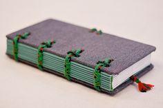 Jeans covered journal Hira Kara Emerald 4x8 от BlockOfNotes2