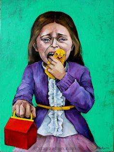 """Unhappy Meal"" by Dana Ellyn. A more compassionate way to live Vegetarian Facts, Vegan Vegetarian, Vegetarian Quotes, Animal Agriculture, Vegan Quotes, Vegan News, Why Vegan, Best Keto Diet, Vegan Animals"