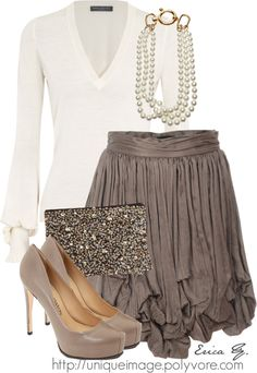 Such a pretty look....I LOVE the skirt!