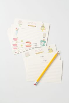 Baker's Bliss Recipe Cards from Anthropologie.com