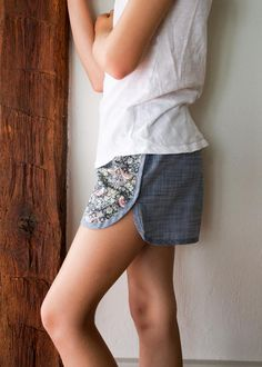 Corinne's Thread: City Gym Shorts for All Ages - The Purl Bee - Knitting Crochet Sewing Embroidery Crafts Patterns and Ideas!