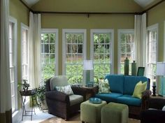 furniture for sunrooms   Sunroom Paint Color Ideas for Highly Reflective Nuance: Sunroom Paint ...