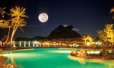 Bora Bora Pearl Beach Resort & Spa, Resort at Night