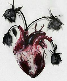 Watercolor bloody heart ♥